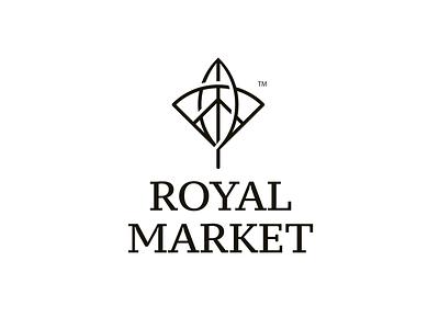 Royal market logo logo icon
