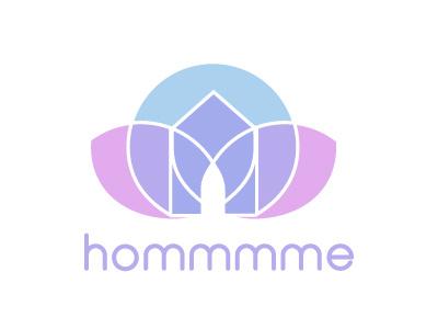 hommmme vector illustration logo yoga
