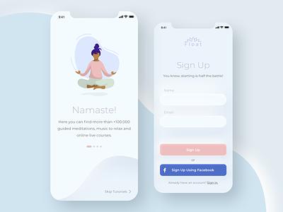 Sign up Concept app design yoga ui illustration dailyui 001