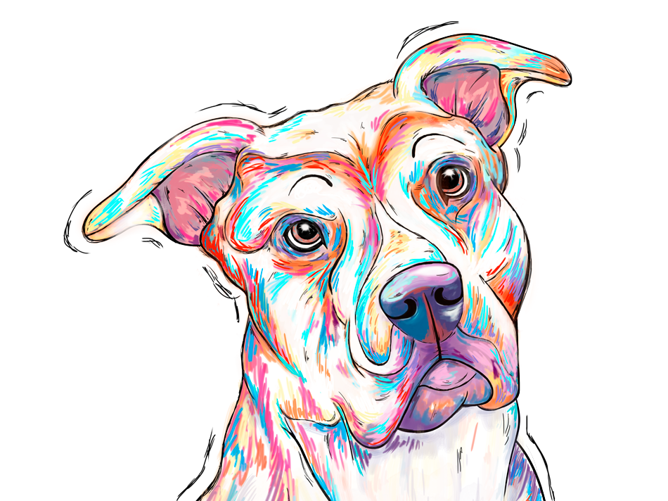 Best friend wacom drawing color bars buddy best friend dog design vector inked illustrator illustration art adobe photoshop adobe illustrator