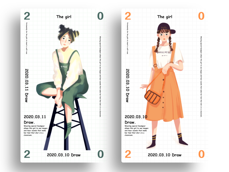 girl season c4d illustration