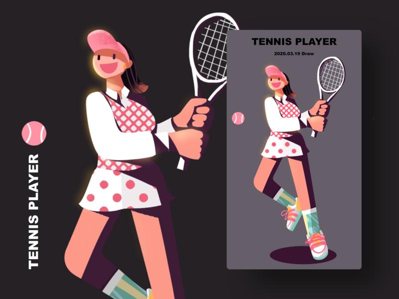 tennis player tennis player illustration girl