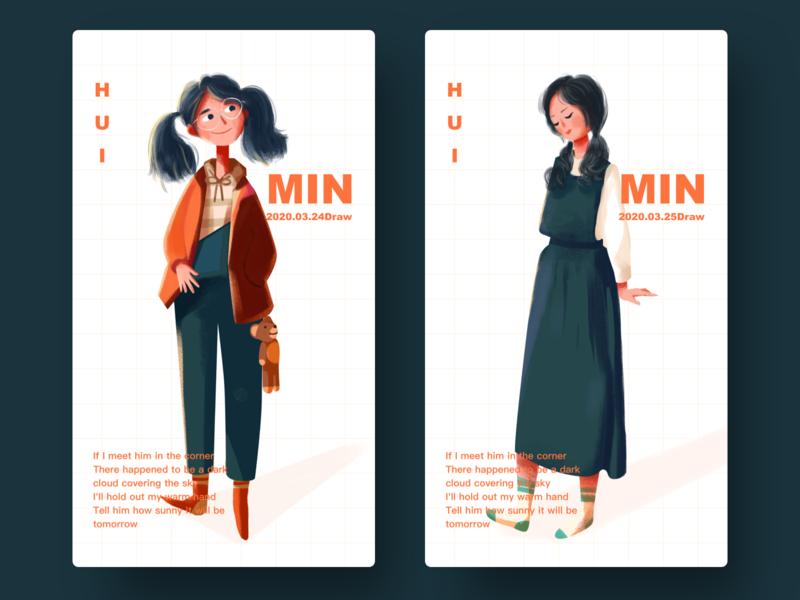 girl c4d illustration