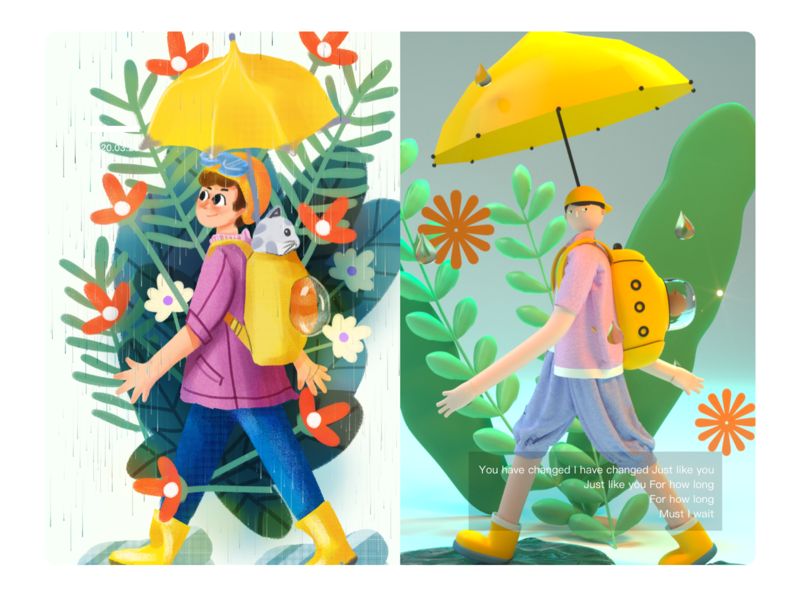 Illustrations to c4d cat season illustration