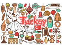 Colored Turkish Symbols