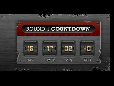Countdown timer countdown grunge distressed