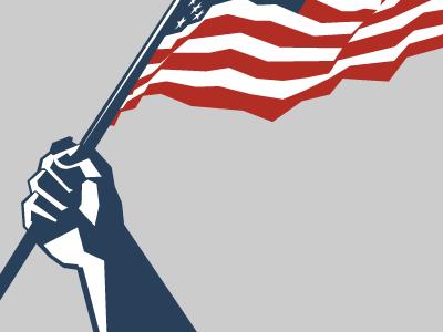 Flag patriotic flag american illustrator