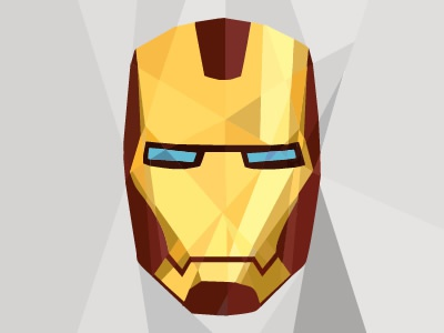 Iron Man superhero ironman poly