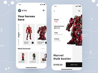 Toy app v 2 product page template shopping app typography app design toy design toys app concept e-commerce design e-commerce app ios modern app minimal app home screen ux ui mobile ui