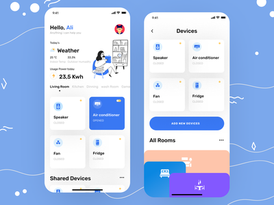 Smart home V 2 uiux uidesign smarthome logo e-commerce design mobileappdesign app concept home screen e-commerce app modern app ios mobile ui minimal app