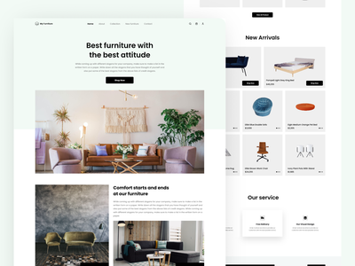 Furniture web minimalist e-commerce mobile ui design ui ux ios furniture website furniture web