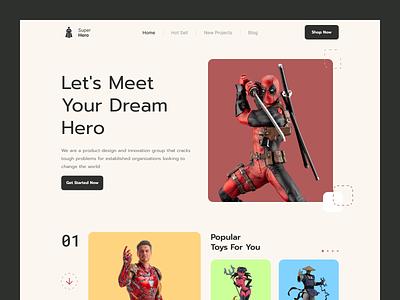 Website UI Design website concept website modern app illustration typography app concept design toy design toy website design website ui design home screen ux ui