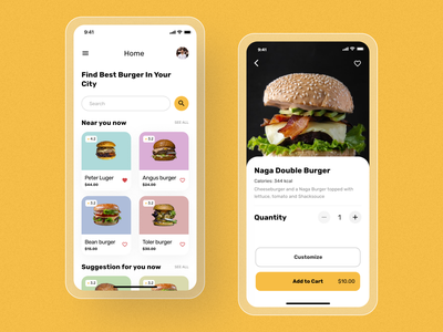 Burger App Ui Design food app food e-commerce app typography mobileappdesign ios mobile ui modern app minimal app home screen ux ui
