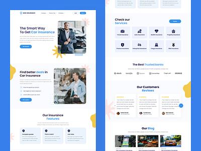 Car Insurance Web Landing Page design mobile ui home screen ux ui