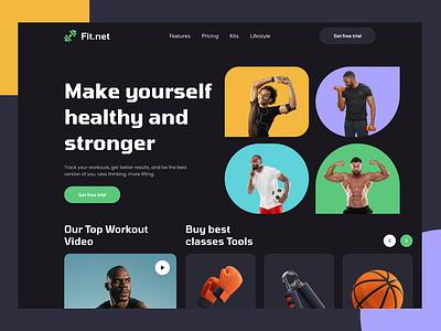 Workout Website Ui Design logo design mobile ui minimal app home screen ux workout gym animation ui