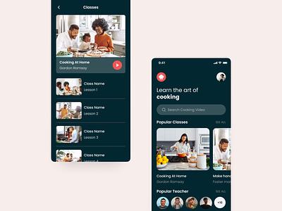 Cooking App Ui Design food cooking design ios mobile ui modern app minimal app home screen ux ui