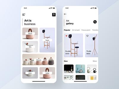 Furniture E commerce App minimal app modern ui app concept furniture app mobile app ux user experience furniture store e-commerce app minimal  shop ios ui design
