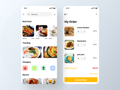 Food Delivery App food ios app home screen ios fooddelivery food app food mobile ui mobileappdesign modern app ux ui uidesign minimal app