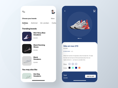 Shoes E commerce App modern app mobile ui minimal app home screen mobileappdesign ecommerce shop e-commerce design shopify ios shopify plus ux ui