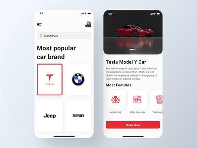 Tesla Car app cuberto auto car mobileappdesign mobile ui modern app minimal app car app home car ios app design ux ui