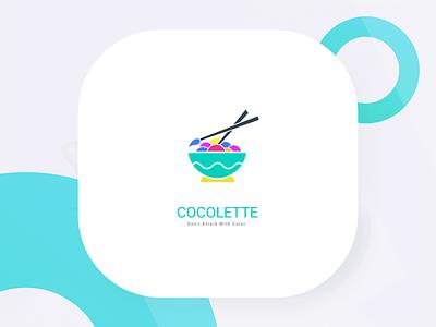 Cocolette App Logo Concept jombang indonesia color palette app palette colorfull color branding logo design zalepik ui modern gradient