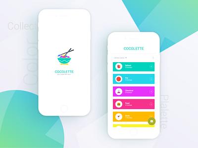 Cocolette Color Palette App   Zalepik clean ui collection app food johny vino shot colorful logo design zalepik uiux ui modern gradient