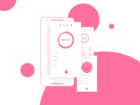 Freebie | Clock App Concept