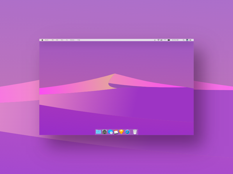 Freebie Mac Os Mojave Night Wallpaper Flat Design By Zen