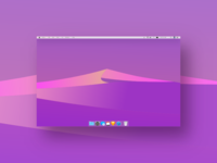 Freebie | Mac Os Mojave Night Wallpaper Flat Design