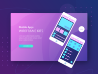 Ui Kit App Landing Page Theplate Mockup  1 Mobile Appsw