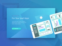 Ui Kit App Landing Page Theplate Mockup   1 For Your Ipad