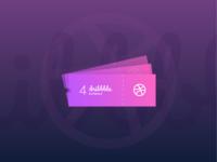 Zalepik | 4 Dribbble Invites  Kartu Tiket