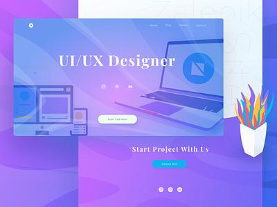 If Paperpillar Website become Zalepik Website uiux colorful flatdesign illustration fluid modern gradient hero footer landing webdesign ui ux ui website zalepik