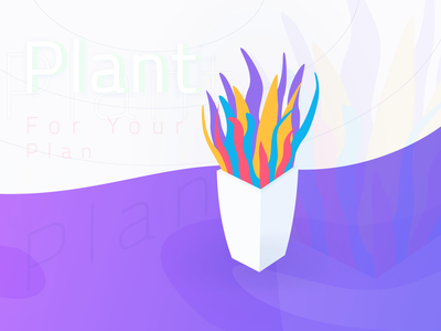 Freebie   Plant for Your Plan freebies freebie vector color mockup uiux ui fluid plants plant modern gradient illustration zalepik free colorful