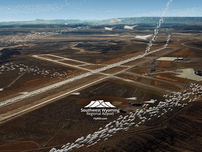 South West Wyoming Regional Airport Video redshift3d vfx motion graphics after effects design spacelaser 3d 3d design cinema 4d