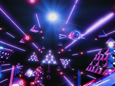 Pyramid Race c4d redshift3d sci-fi after effects motion graphics design spacelaser 3d 3d design cinema 4d
