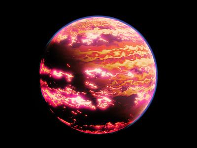 Alien Worlds - Heavy Magma space planet science sci-fi c4d redshift3d design spacelaser 3d 3d design cinema 4d