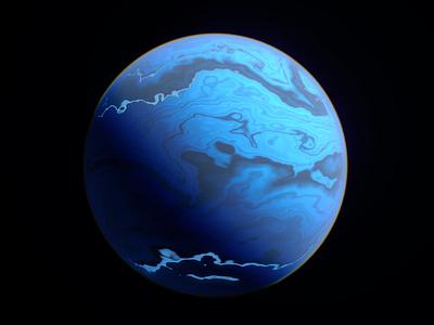 Alien Worlds - Oxuto neptune science space planet sci-fi redshift3d 3d design spacelaser 3d design cinema 4d