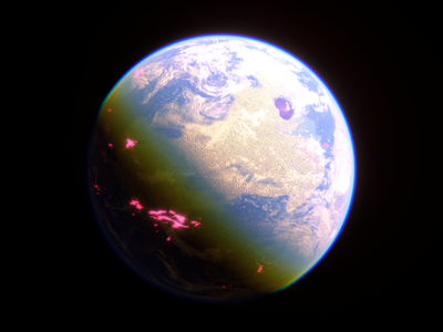 Alien Worlds - Super-Earth space earth planets science sci-fi c4d redshift3d design spacelaser 3d 3d design cinema 4d