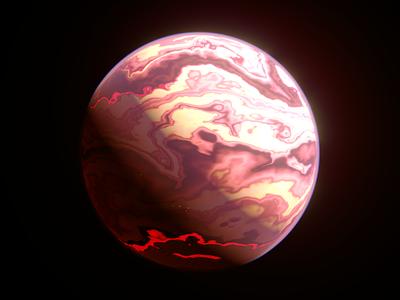 Alien Worlds - Toxinious space jupiter planets science sci-fi c4d redshift3d design spacelaser 3d 3d design cinema 4d