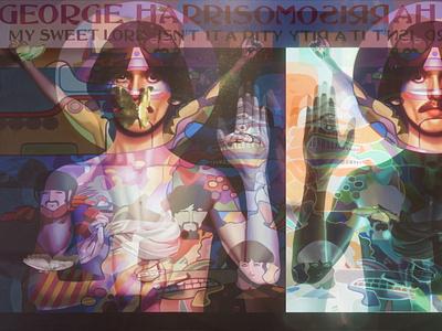 Flutter-by George Harrison gold gold leaf painting paint art fine art the beatles beatles george harrison butterflies butterfly c4d redshift3d after effects motion graphics design spacelaser 3d 3d design cinema 4d