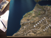 3D Morocco Map, Snapshot