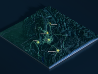 Papua New Guinea Map Slices - Night-time