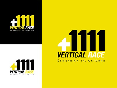 +1111 Vertical Race logo design