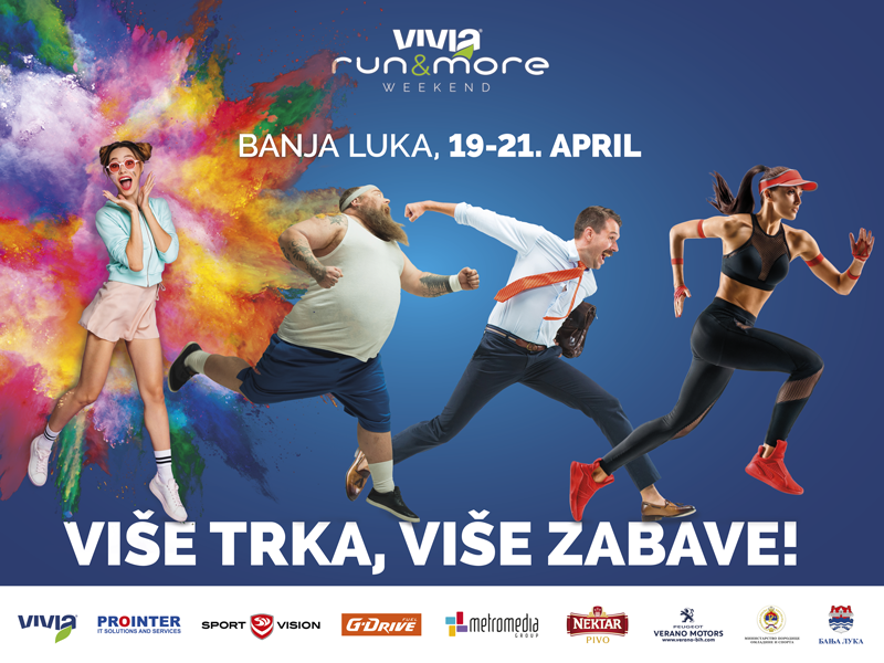 MORE RUN, MORE FUN festival sport branding campaign campaign design billboard design poster