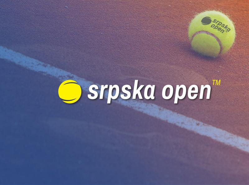 Logo concept for tennis tournament