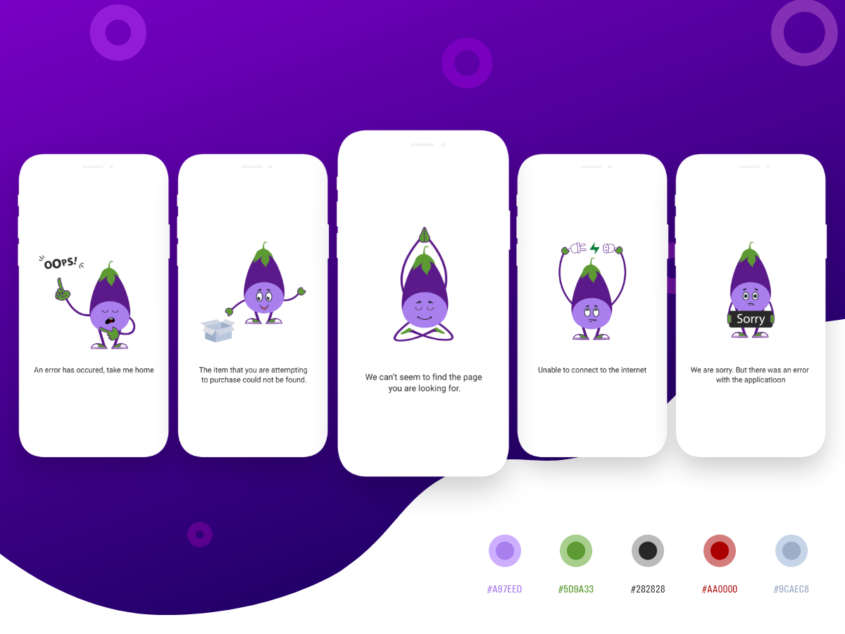 Fun Characters app adobe ui illustration design