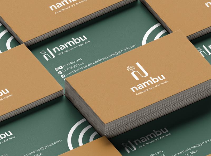 Nambu - Arquitetura e Design design brand identidade visual branding design logo