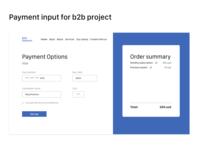 Payment input