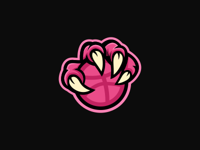 Thank You! pink dragon invited thank you debut dribbble ball